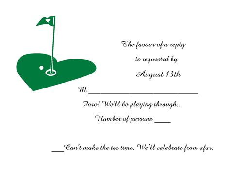 golf themed wedding invitations golf themed wedding invitation and rsvp bowenprinting