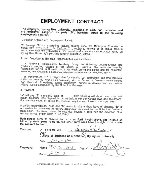 Sub Contractor Agreement Template