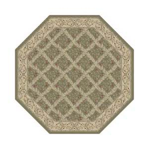 octagon shaped rugs traditional vines green octagon rug by american heritage