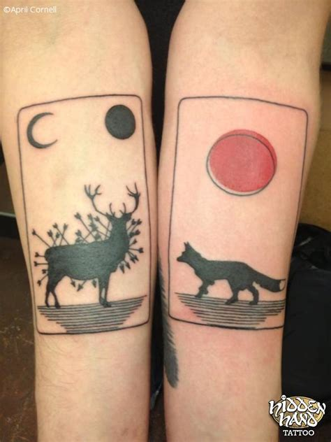 hidden hand tattoo deer and fox cards seattle wa