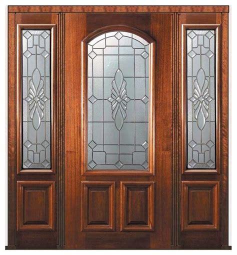 Prehung Sidelights Door 80 Mahogany Versailles Arch Lite Front Door Texture