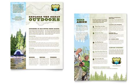 nature templates for word nature cing hiking datasheet template word publisher
