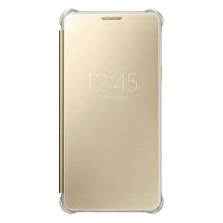 Clear Samsung A5 2016 official samsung galaxy a5 2016 clear view cover gold