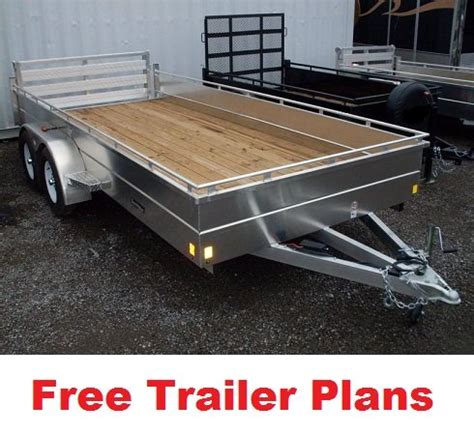 diy hard floor cer trailer plans free trailer plans