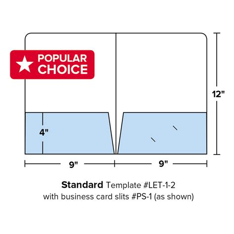 business card slits template enduraline quot popular choice quot printed folders