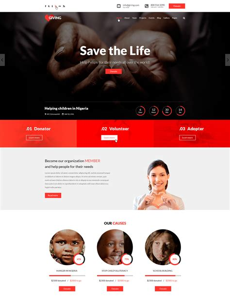 html templates for ngo website giving ngo and charity html template modern web templates