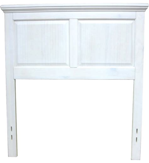 White Wood Headboard Cottage Wood Headboard Egg Shell White Traditional Headboards By Mantua Mfg