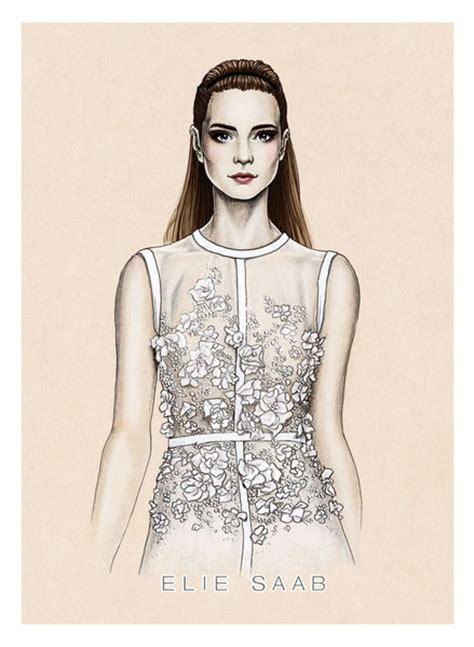 fashion illustration elie saab quot elie saab ss2014 illustration quot drawing prints and