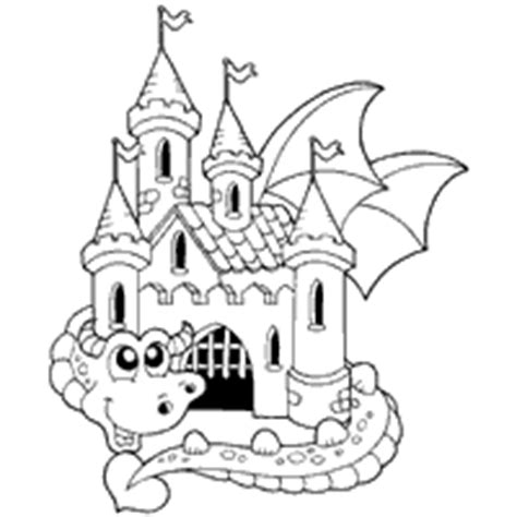 fairy tale castle coloring page dragon 187 coloring pages 187 surfnetkids