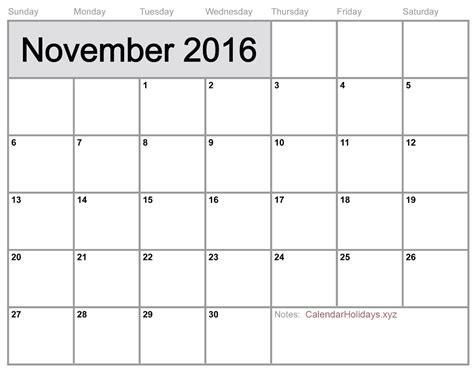 blank calendar template word quot november 2016 word calendar blank template
