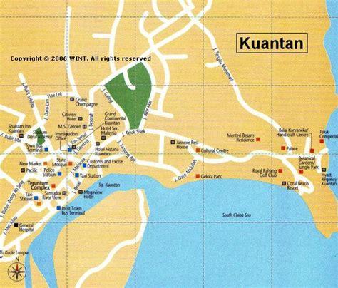 kuantan map  kuantan satellite image
