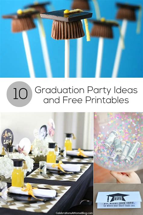 printable graduation party decorations 10 graduation party ideas and free printables for grads