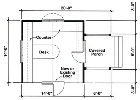 project plan 90026 14 x14 office addition for one and
