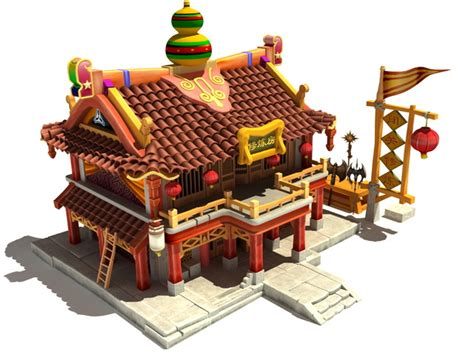 Fantasy ancient Chinese house 3d model 3dsMax files free