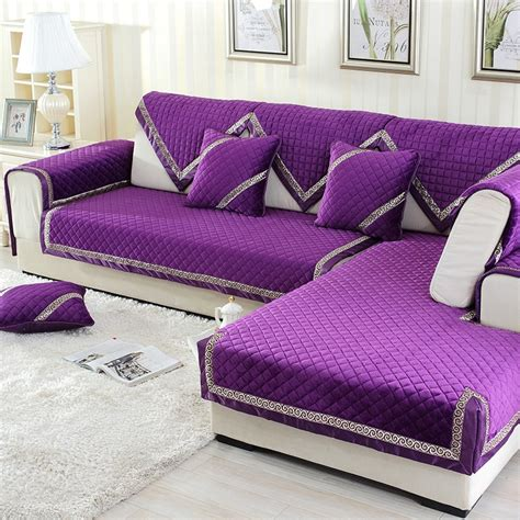 Thick Covers by Solid Thick Sofa Covers For Living Room Anti Slip