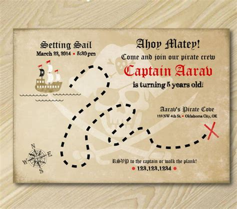treasure map invitation template 6 treasure map templates free excel pdf documents