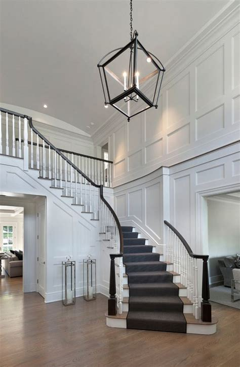 House Plans With Foyer Entrance Best 25 Curved Staircase Ideas On