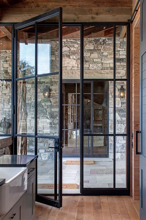Steel And Glass Doors Rehme Steel Windows And Doors Ranch Single Doors Doors And Steel