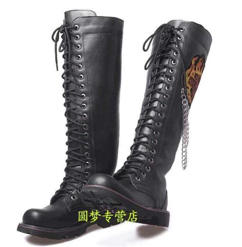 mens knee high lace up boots 2015 winter s lace up knee high boots fashion