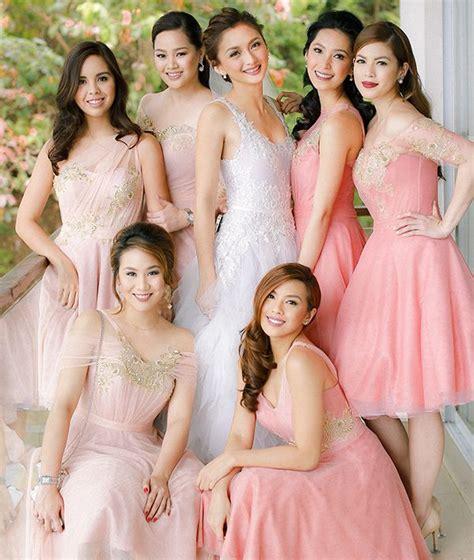 Wedding Entourage Hairstyles by Wedding Drew Arellano And Iya Villania By