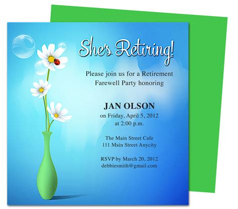 retirement dinner invitation template printable diy vase retirement invitations templates