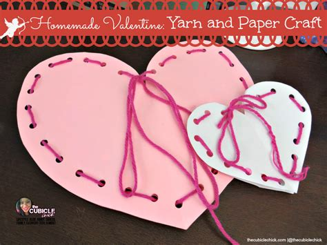 Paper Craft Valentines - yarn and paper craft