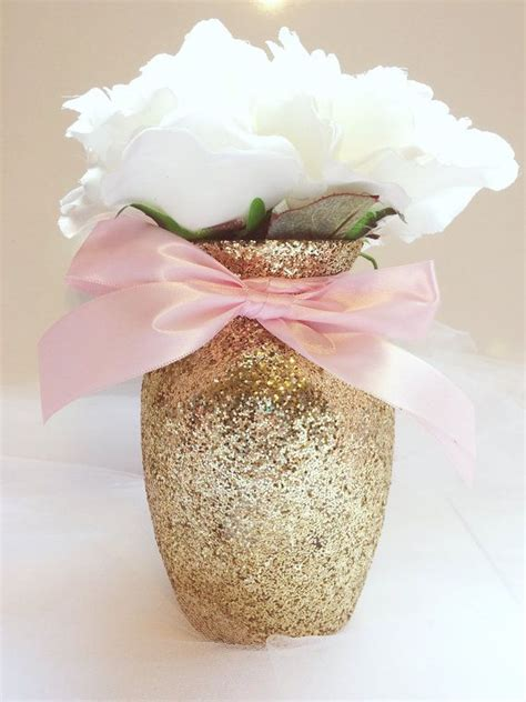 Pink Baby Shower Centerpieces by 3 Gold Pink Vases Gold And Pink Baby Shower Baby