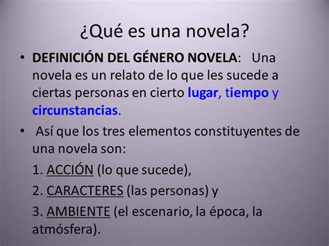 191 qu 233 es una novela ppt video online descargar