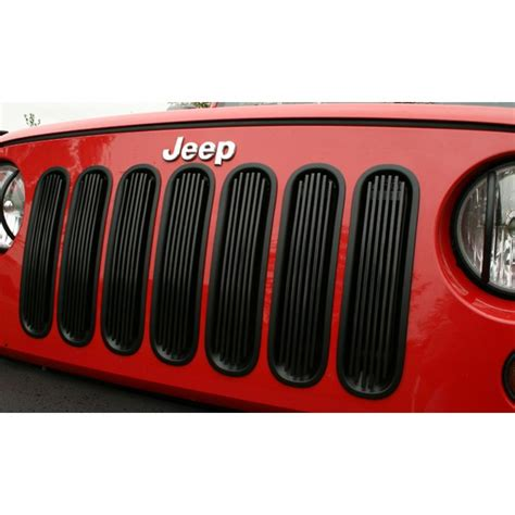 black grill inserts jeep wrangler billet grille insert black 07 15 jeep wrangler