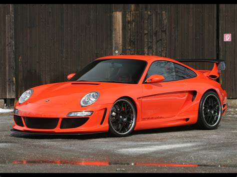 orange porsche 2006 gemballa gtr 650 evo orange porsche 997 sa 1024x768