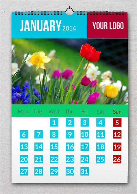design calendar psd wall calendar 2014 design with psd file by redfoxmag on