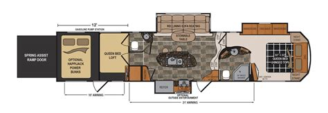 Voltage Toy Hauler Floor Plans | voltage 3950 floorplan mcneills on wheels