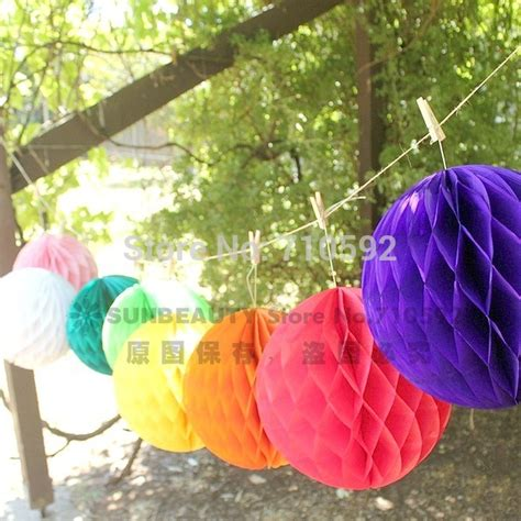 aliexpress com buy 20cm tissue paper honeycomb balls