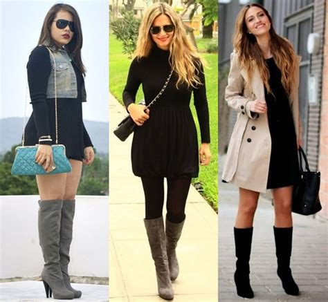 style ideas fashion boots fall  winter outfits