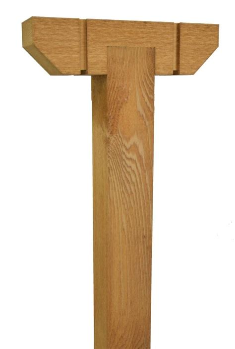 wood l post designs decorative cedar wood t post 4x4 wilray designs