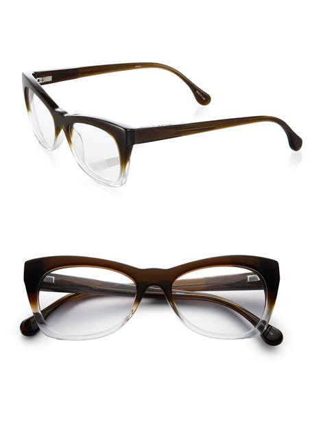 ban cat eye glasses black and clear ombre