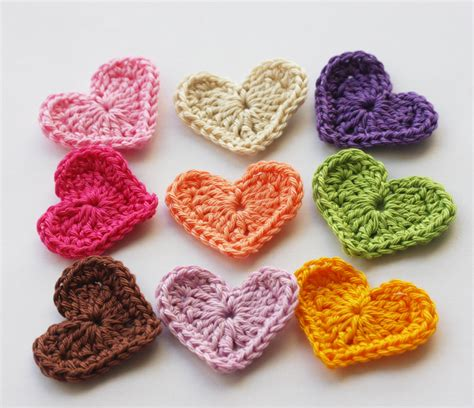crochet hearts rainbow crochet hearts on luulla