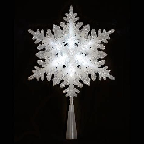 light up silver glitter acrylic snowflake christmas tree