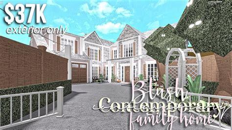 blush contemporary family home exterior  roblox
