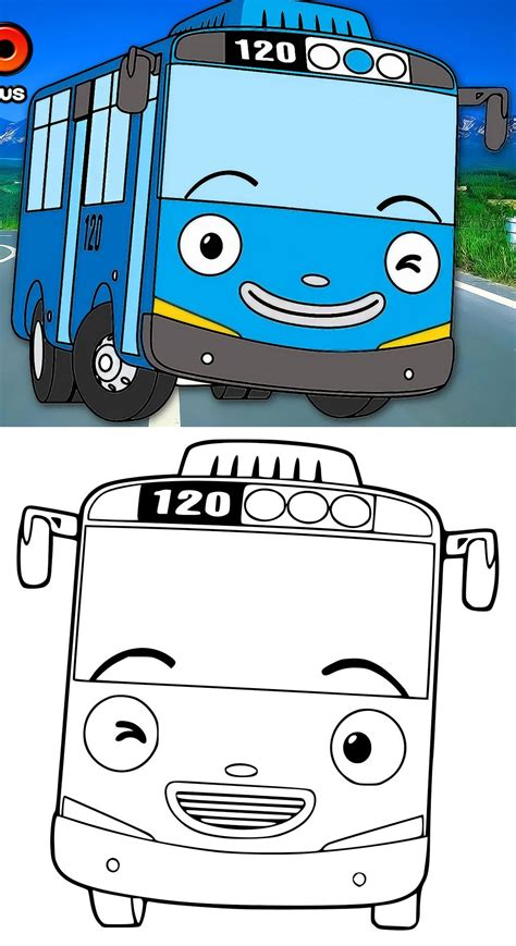 coloring page tayo tayo the little bus coloring pictures