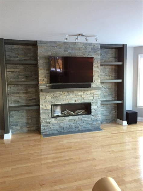 Fireplace Centre In Ottawa by Television Above Valor Gas Fireplace With Cladding