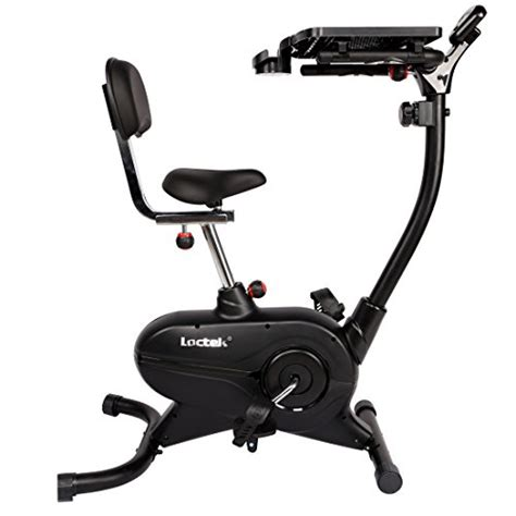exercise bike with laptop desk loctek uf4m home office upright stationary desk exercise