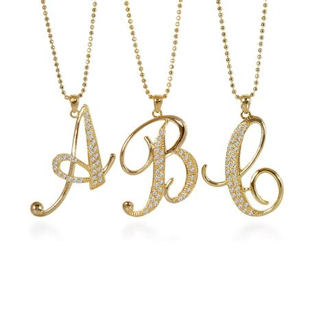 necklace for necklaces astonishing initial pendant necklace gold gold