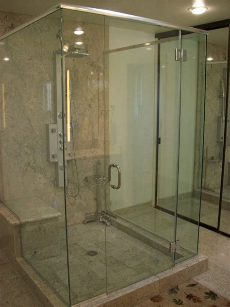 Glass Door For Bathroom Shower Glass Cube Frameless Shower Door Traditional Bathroom Los Angeles By Algami Glass Doors