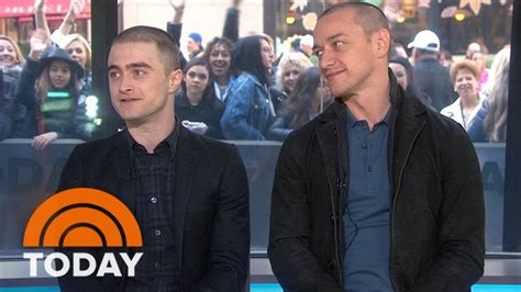 james mcavoy today daniel radcliffe james mcavoy on victor frankenstein