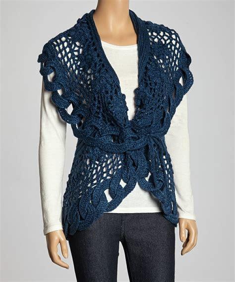 Wool Blend Knit Vest blue link knit wool blend sweater vest haakidee 235 n