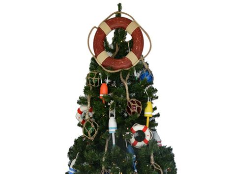 buy vintage red lifering christmas tree topper decoration