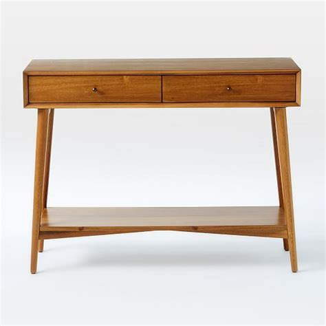west elm sofa table mid century console west elm