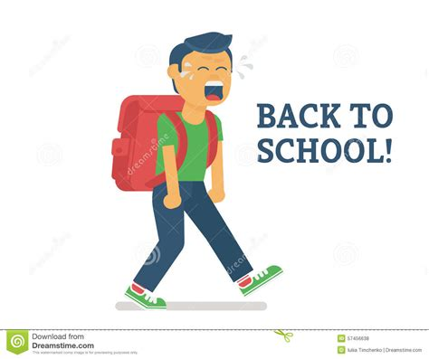 Goes Back To School by Back To School Stock Vector Image Of Depression
