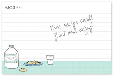 cookie recipe card template 25 free printable recipe cards home cooking memories